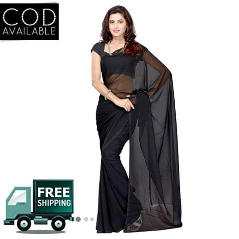 Vamika Black Faux Georgette Saree