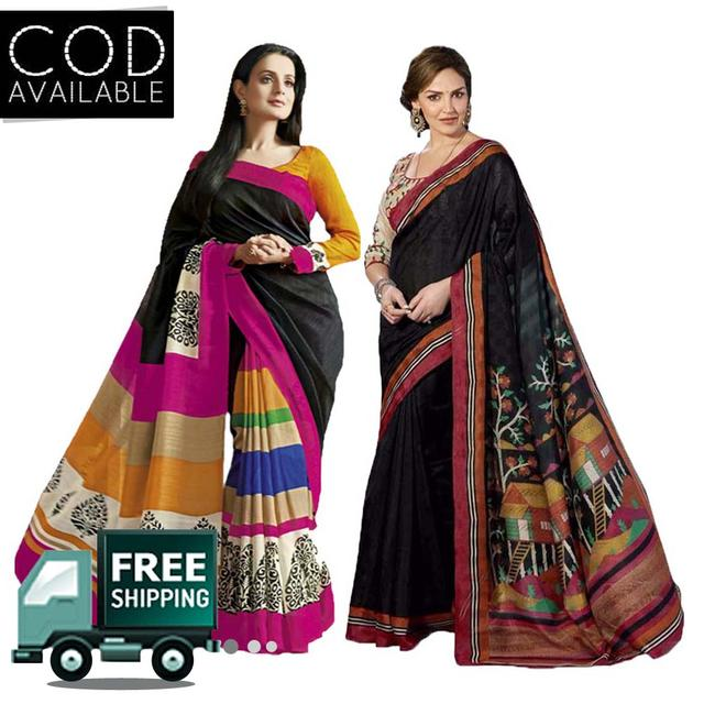 Combo of 2 Printed Bhagalpuri Saree By Vamika
