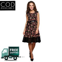 Lee Marc Black Georgette Dress