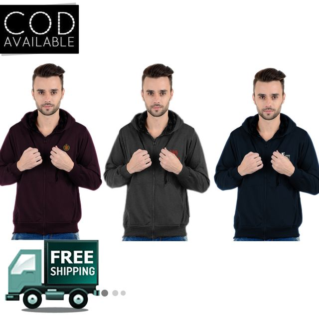 Buy 2 K-west Solid Hooded Sweatshirts & Get 1 Free