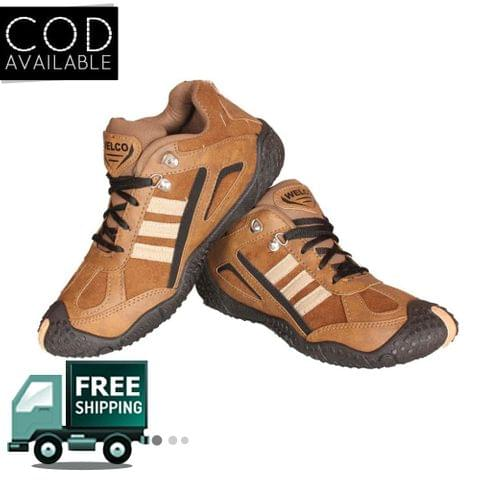 Welco Branded Men's Brown Casual Shoes