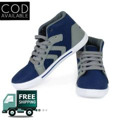 Delux Look Branded Men's Blue Outdoor Casual Shoes