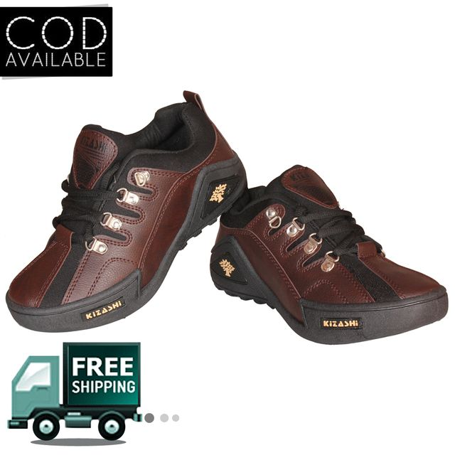 Delux Look Branded Men's Brown Outdoor Casual Shoes