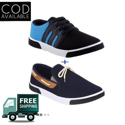 Delux Look Branded Men's Pack Of 2 Outdoor Casual Shoes Combo