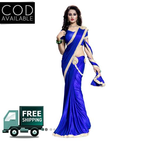 Vamika Ready To Wear(One Minute) Lycra Designer Saree
