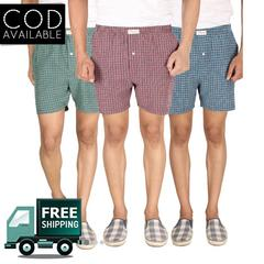 SLS Pack of 3 Cotton Checks Men's Boxers