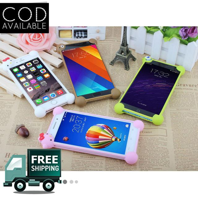 Novel Anti Fall Off Silicone 3D Cartoon Universal Phone Frame Bumper(Assorted Color)