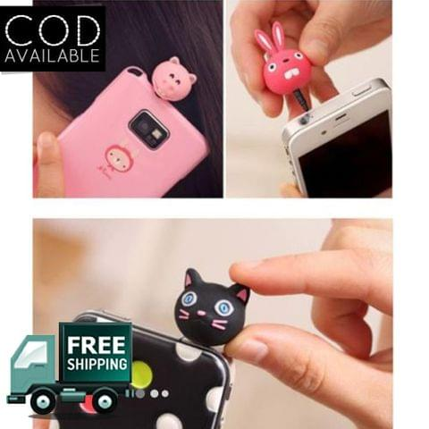 Novel Fashionable Funky Mobile Accessories Assorted Design Dust Plug-Pack Of 3