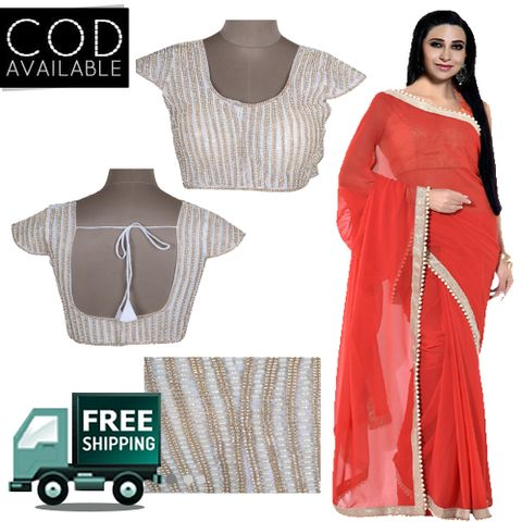 Karishma Kapoor Georgette Saree With Designer Blouse By Vamika