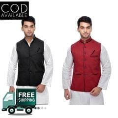 KP Men's Combo Of 2 Slim Fit Modi Jacket