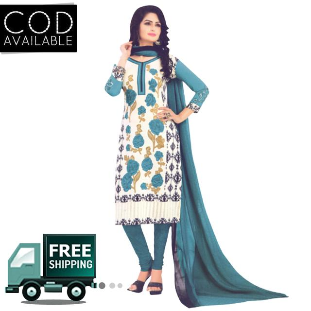 Vishnu Green Color Crepe Printed Salwar Suit