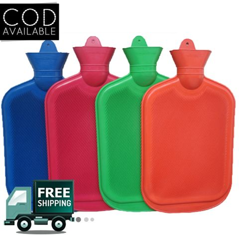 Axtry Rubber Hot Water Bottle 2 Ltr For Pain Relief(Random Color)