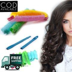 Kawachi 16Pcs Wide Spiral Hair Curlers Magic Styling Roller Set
