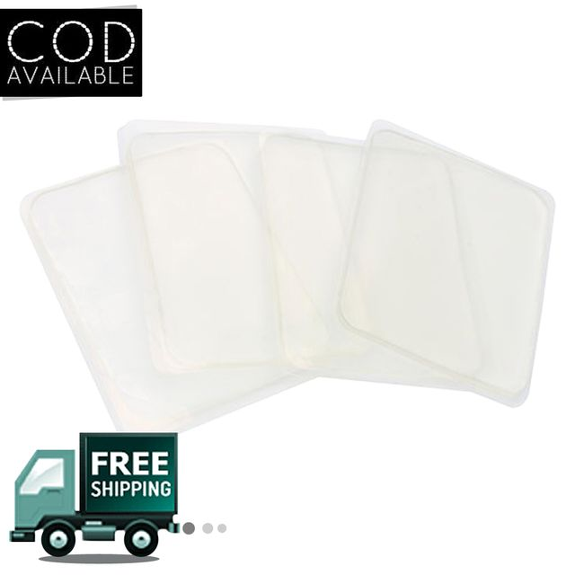 Kawachi 10 Pcs Gripes Removable Washable Double Sided Sticky Mat