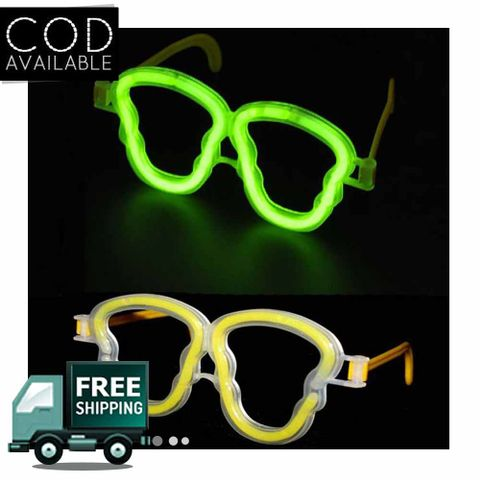 Skull Set of 2 Neon Glasses