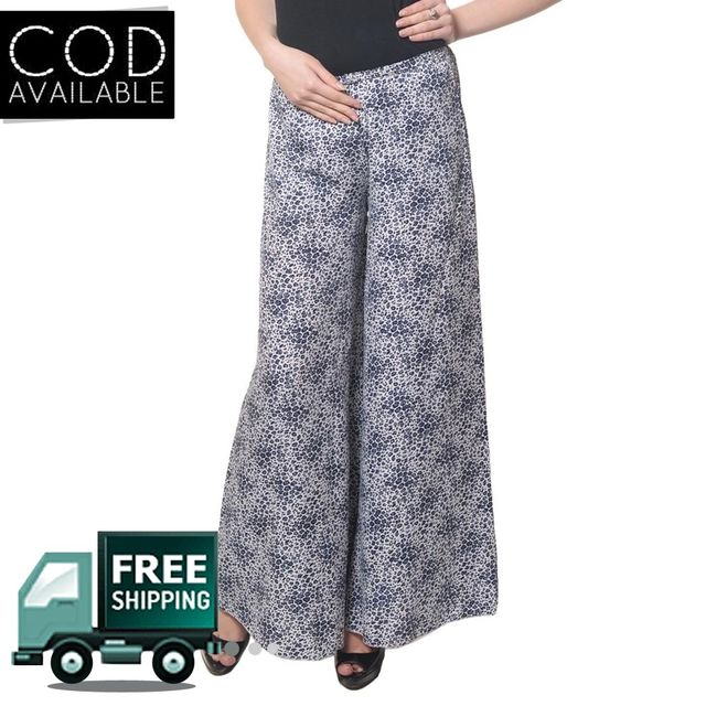Glamocharms Abstract Print Palazzo Pant