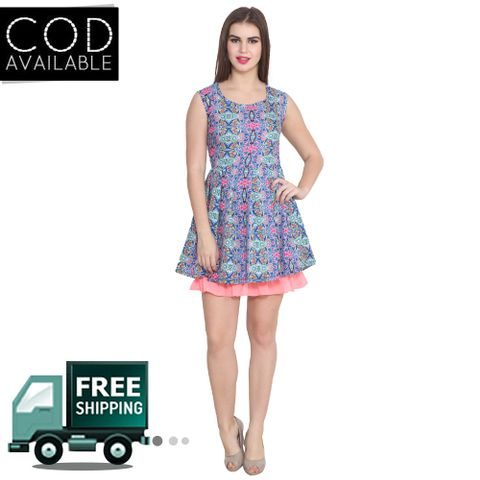 Lee Marc Multicolor Printed Georgette Dress