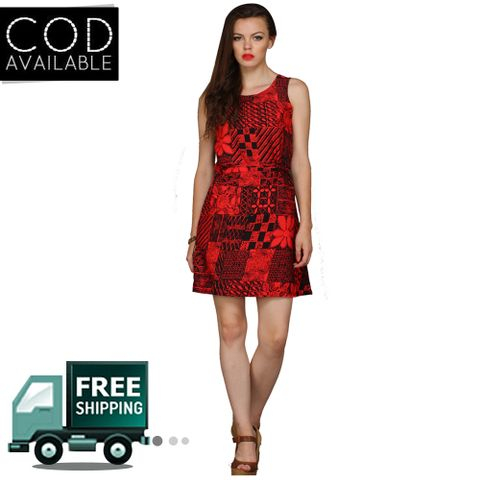 Fashion Shoppe Superb Women's Red Midi