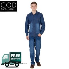Real Cotton Men's Full Sleeve Blue Denim Shirt