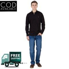 Real Cotton Men's Black Coloured Cotton Shirt