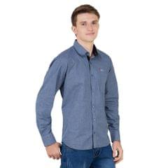 Real Cotton Men's Dark Grey Coloured Cotton Shirt