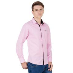 Real Cotton Men's Pink Coloured Cotton Shirt