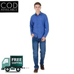 Real Cotton Men's Blue Coloured Cotton Shirt