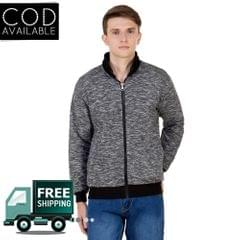 American-Elm Men's Reversible Grey Color Full Sleeve Jacket