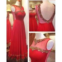 Isha Enterprise Latest Net Red Designer Gown