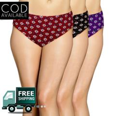 Vrgin Pack Of 3 Cotton Printed Pantie-Assorted Color