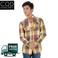 Branded Checkered Slim Fit Casual Shirt(Fly-53)