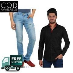 Yellow Tree Combo of 1 Blue Jeans & 1 Shirt For Men