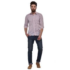 MSG Blue Casual Regular Fit Shirt