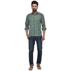 MSG Green Casual Regular Fit Shirt