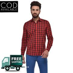 MSG Red Casual Regular Fit Shirt