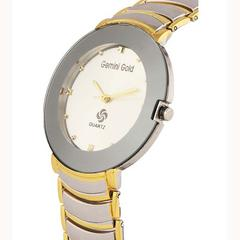 Gemini Gold Designer Analog Gold Colors Stainless Steel Watch For Women