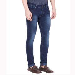 Spanish Men's Blue Slim Fit Stretchable Jeans