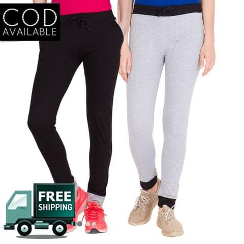 American-Elm Pack Of 2 Women's Cotton Track Pants