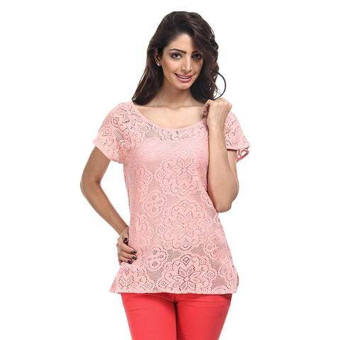 Cotton Lace Top Casual Top /TSF1821
