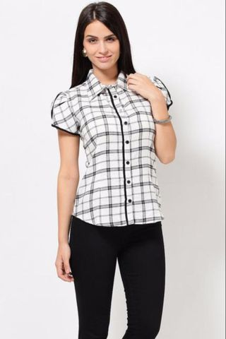 Shirt In Brushed Cotton Check Fabric /TSF2009