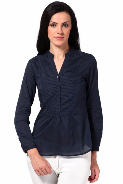 Shirt In Cotton Voile Fabric /TSF2128