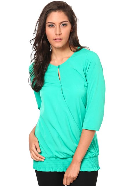 3-4 Sleeves Round Neck Top /TSF2273