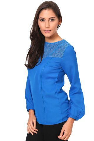 Full Sleeves Top With Lace At The Yoke /TSF2452
