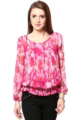 Full Sleeves Top In Poly Ggt /TSF2471