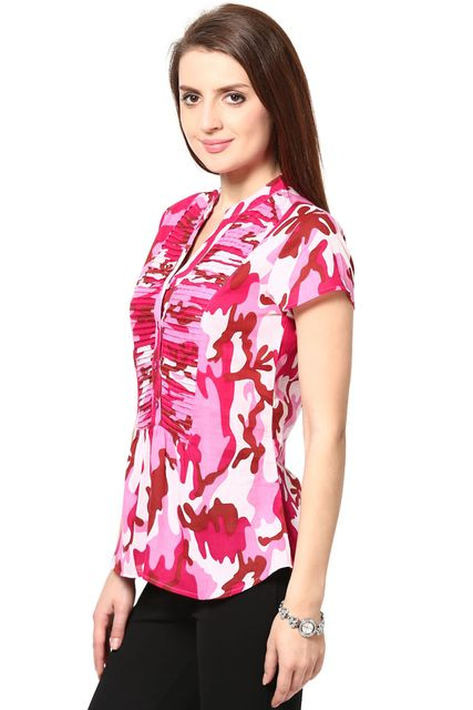 Casual Wear Top In Cooton Moss /TSF2473