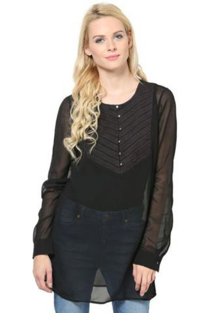 Full Sleeves Tunic In Poly Ggt /TSF2904