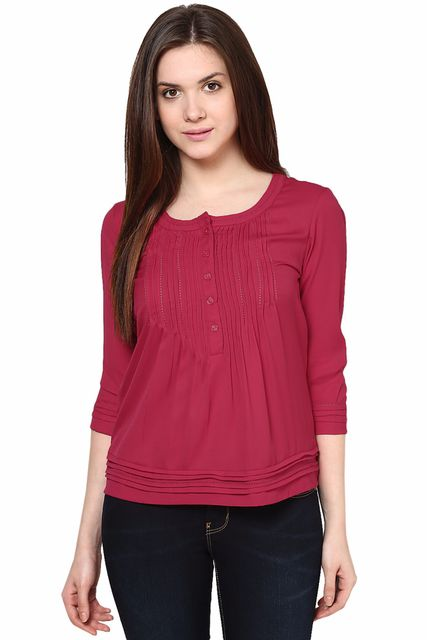 Roll Up Sleeves Solid Top /TSF2965