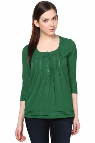 Roll Up Sleeves Solid Top /TSF2966