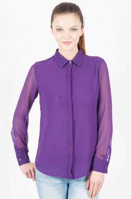 Shirt With Lace At The Back /TSF3468