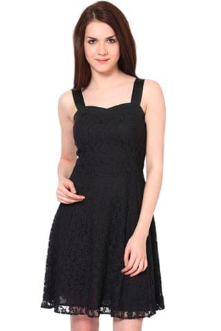 Strap Dress In Lace Fabric/DRF2341